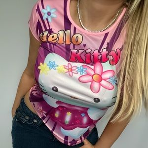 Hello Kitty Slinky-Material Tee